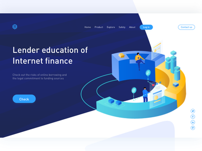 Lender Education Of Internet Finance window web visualization page data banking finance internet of education lender
