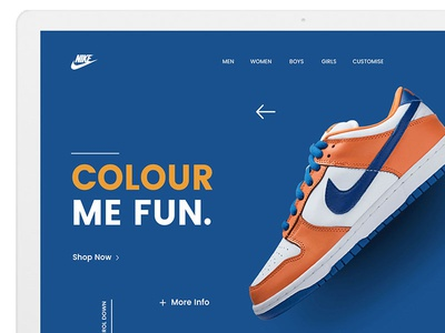 Nike Website Concept Design