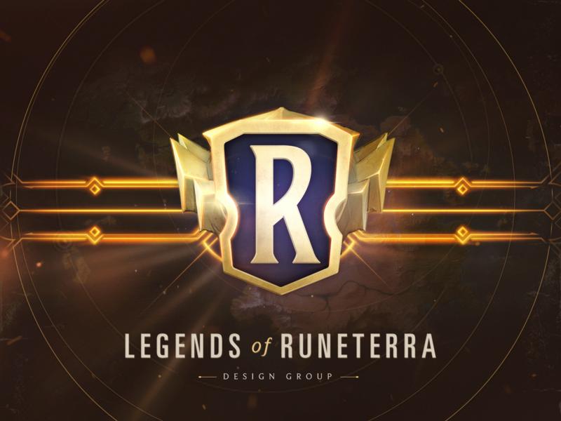 Legends of Runeterra branding texture gaming typography ui