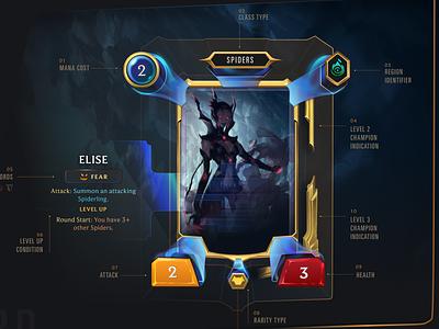 Card Anatomy // Legends of Runeterra figmadesign game design game ui game material ui illustration rendering figma ui design ui