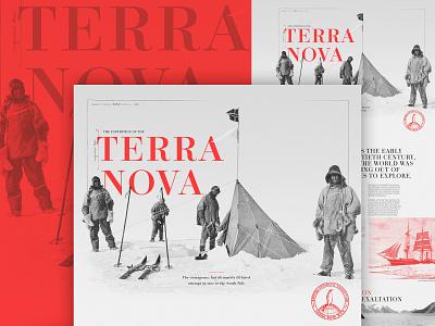 The Terra Nova Expedition ui photography interactive editorial