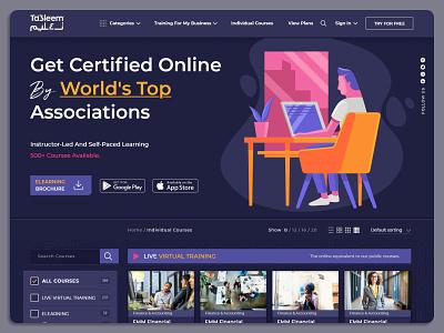 Ta3leem website design ui branding ux education website training course knowledge