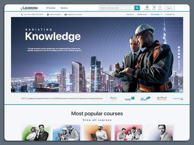 leoron website competitiveness design ui ux branding education website training course knowledge