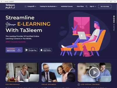 website for eLearning courses online virtual webinar elearning competitiveness training illustration design branding education course knowledge