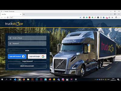 Truckscope load map login website app trucking truck