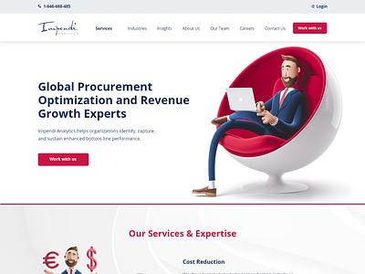 Global procurement Optimization website adobe xd ui  ux website
