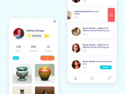App sns ui design