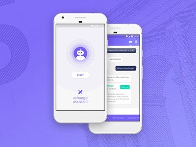 Xchange Assistant App Concept calculator chat bot money convert currency exchange ui ux app