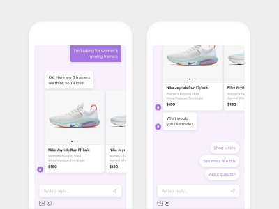 Revive Chat - Chatbot UI art direction purple user interface ui chatbot chat