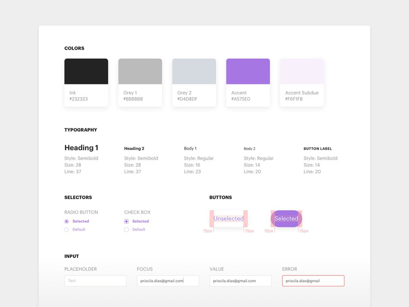 Revive Chat - Style Guide libraries user interface designer ui design components style guide chatbot chat ui