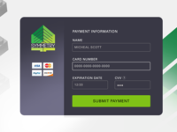 Credit Card Checkout UI Design for Symmetry