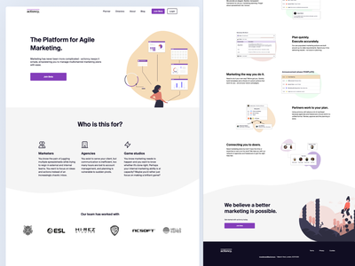 Website / Landing page / actioncy visual visual design webdesign marketing agency marketing product marketing site marketing branding brand landing page concept figma ui design landing pages webflow landing page