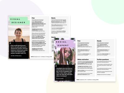 Persona template ⚡️ // Figma Freebie 👩🏼💼⚡️ product design user interface design user experience web design figmadesign product personal documentation ux design uxui free template figma research uxdesign persona ux personas