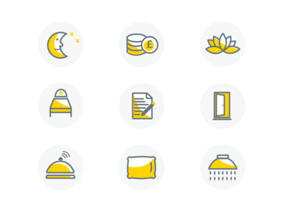 Icons for wellness start-up