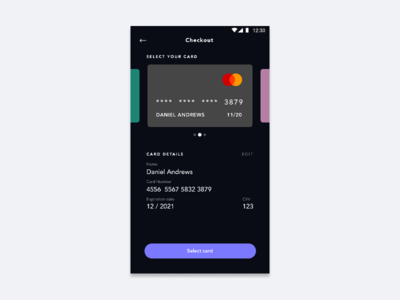 Daily UI #002 | Credit Card Checkout