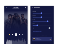 Daily UI  #007 | Settings page for music player