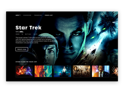 Daily UI #25 | TV App | NerdBox dark ui minimal uiux uipractice ux  ui figma daily ui product design ui design