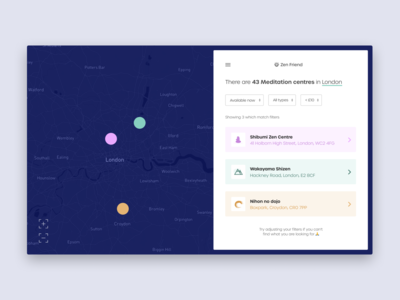 Daily UI #29 | Map | Zen Friend