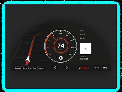 Daily UI #34 | Car Dashboard 🚕🚕🚕 daily ui challange dashboard car daily ui challenge daily ui 034 dark ui minimal uiux ui uipractice ux  ui figma daily ui product design design