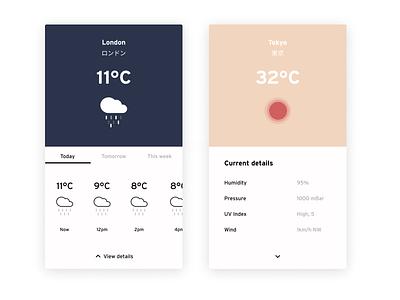 Daily UI #37 | Weather ☀️🌧 & A bit of ❤️for 🇯🇵 weather forecast weather icon weather app weather daily ui 037 dark ui minimal uiux uipractice ux  ui figma daily ui product design ui design