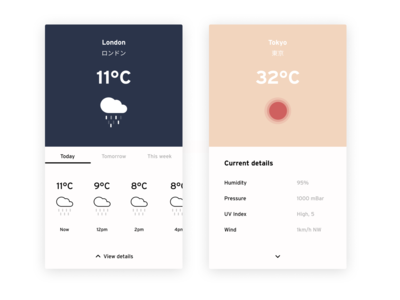 Daily UI #37 | Weather ☀️🌧 & A bit of ❤️for 🇯🇵