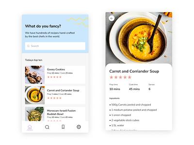 Daily UI #40 | Recipe 🍔🧀🚀 minimalism ui  ux daily ui 001 food recipes recipe app recipe daily ui challenge daily ui 041 dark ui minimal uiux uipractice ux  ui figma daily ui product design ui design