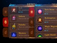 The pixel art of Dark Slash: Hero #3