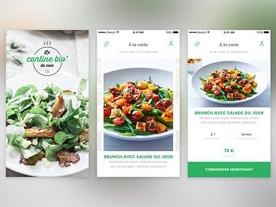La cantine bio bio food app mobile ux ui design