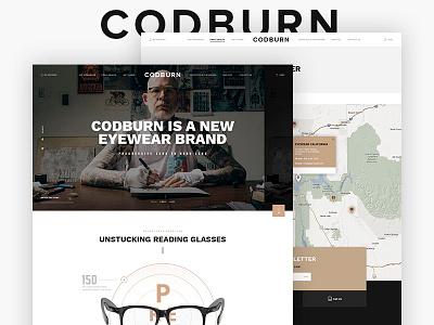Codburn - Homepage ui ux design glasses ecommerce eyewear