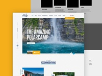 PolarCamp website - Rejected version