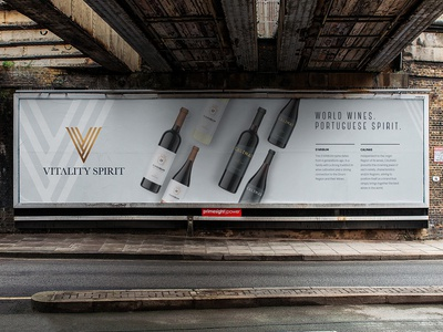 Vitality Billboard Ad wines wine typography symbol mark logo identity brand branding