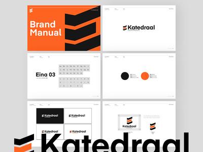 e-Katedraal logo design training center vector icon brand branding typography logo