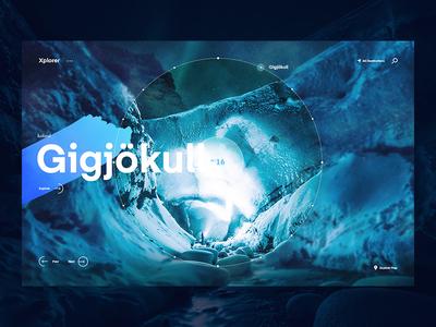Xplorer - Iceland world experiences typography web website travel ux ui design