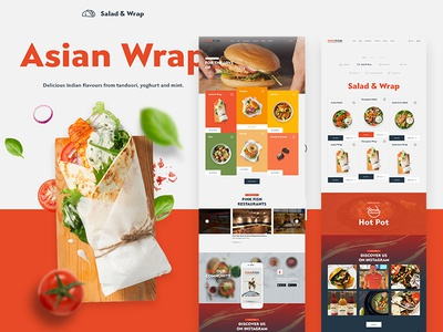 PinkFish ecommerce typography webdesign food clean website ux ui