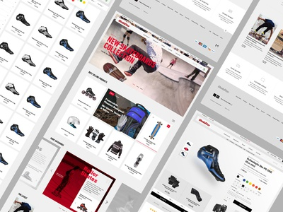 Robito typography sports website ecommerce ux ui