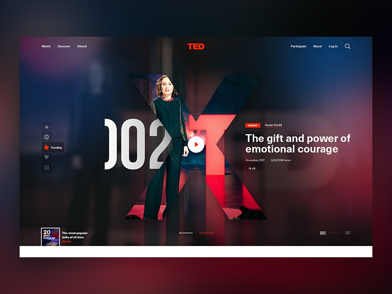 TED tedx ted talks typography webdesign website ux ui