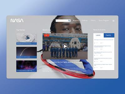 Nasa Concept 2 nasa web typography uiux illustration webdesing uiux design inspiration design