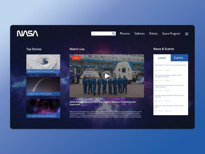 Nasa Concept 3 ux web nasa webdesing uiux design uiux inspiration illustration design