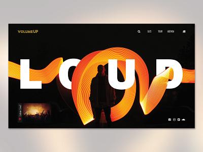 Loud - Landing Page ui web webdesing uiux design uiux inspiration illustration design
