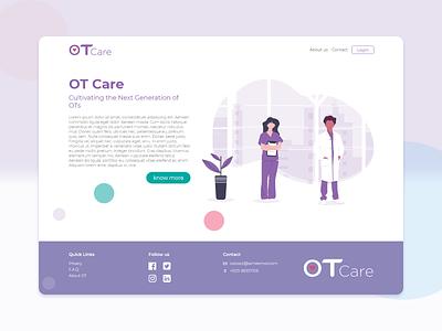 Ot Care branding ui ux web webdesing uiux uiux design inspiration illustration design
