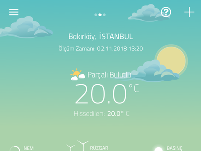 Partly Cloudy sun ux meteo weather ui cloud