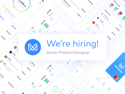 We're hiring! bank monese ui banking fintech hiring productdesign