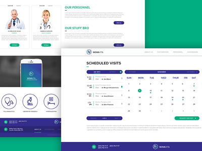 Patient portal on clinic's website novavita appointment management scheduling interface appointment patient portal clinic health dashboard