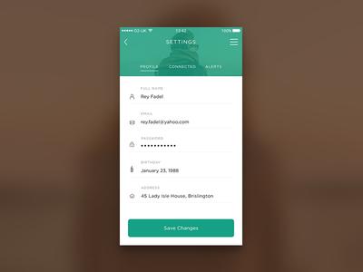 Daily UI #007 - Settings app settings ios mobile app minimal ui clean 007 dailyui