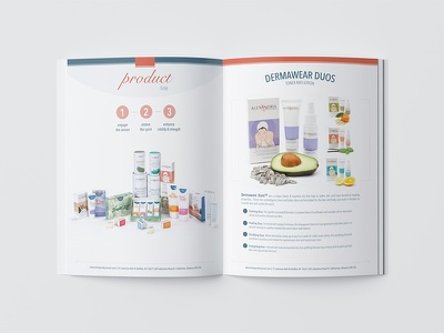 AP Press Kit: Inside Spread waxing sugaring skincare publication design print design brand development beauty industry