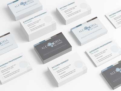 The Studio: Business Cards brand development sugaring waxing skincare beauty industry print design