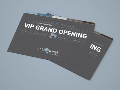 The Studio: VIP Grand Opening Mailer brand development sugaring waxing skincare beauty industry print design