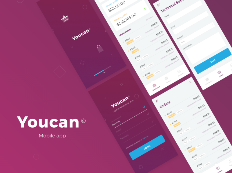 YouCan_E-commerce platform app webdesign illustration mobile design ecommerce app ui ux app ui