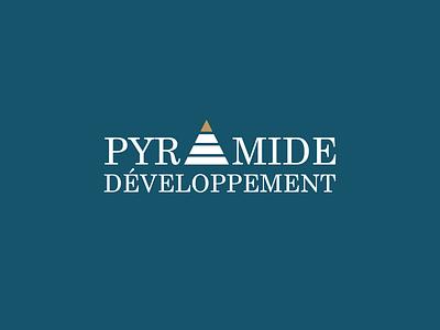Pyramide Developpement - Real Estate Company design logo brand real estate