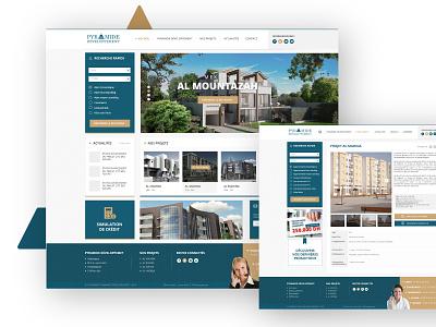 Pyramide Developpement - Real Estate Company ui webdesign design logo brand real estate